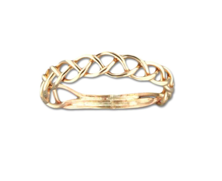 Mark Steel Hand Braided Ring Gold Filled