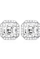 Brian Crisfield Heirloom Earrings Platinum Plated Over Silver
