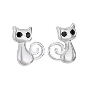 Steven + Clea Cat Sterling Silver Earrings