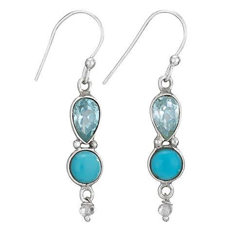 Steven + Clea Gemstone Sterling Silver Earring