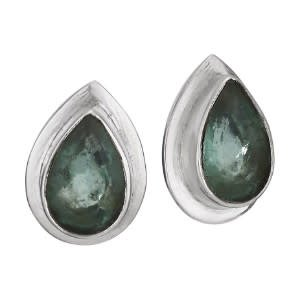 Steven + Clea Facet Apatite TRDRP Stud Sterling Silver Earrings