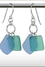 Austin Cake Earrings Duo Blue Seafoam