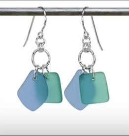 Austin Cake Earrings Duo Blue Seafoam