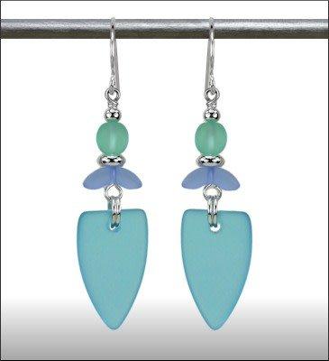 Austin Cake Earrings Marquese Sea Style Aqua Ocean Blue