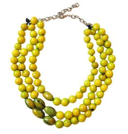 Angela Sanchez Lime Quidbo Acai Berry Necklace