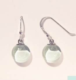 Bryce + Paola Mini Round Dangle Sola SOFT MINT Earring