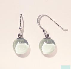 Bryce + Paola Mini Round Dangle Sola SOFT MINT Earring