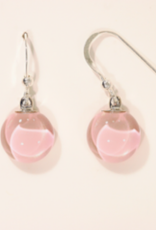 Bryce + Paola Mini Round Dangle Sola ROSE GOLD Earring