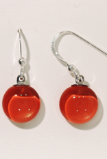 Bryce + Paola Mini Round Dangle Sola LIVING CORAL Earring