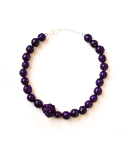 Angela Sanchez Tenjo Purple Necklace