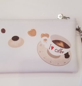 Valentina Oppezzo I Love Coffee Vegan Friendly Wristlet