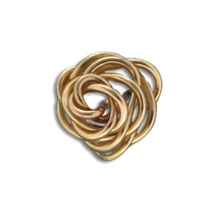 Mark Steel Rose Bud Stud Earrings