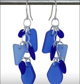 Austin Cake Earrings Cascade Deep Blues
