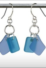 Austin Cake Earrings Duo Blue Aqua