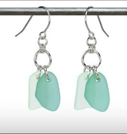 Austin Cake Earrings Duo Seafoam Clear