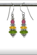 Austin Cake Dreidel Matte Glass Earrings