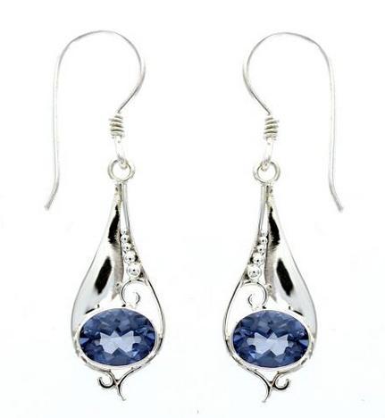 Vera + Wolf Sterling Silver Drop Stone Earring