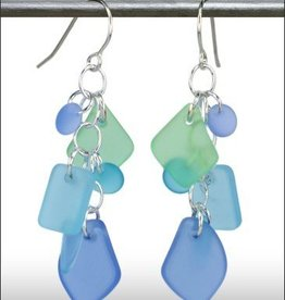 Austin Cake Earrings Cascade Blue Seafoam