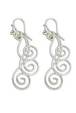 Mark Steel Earrings Sterling Silver F51 Swirl