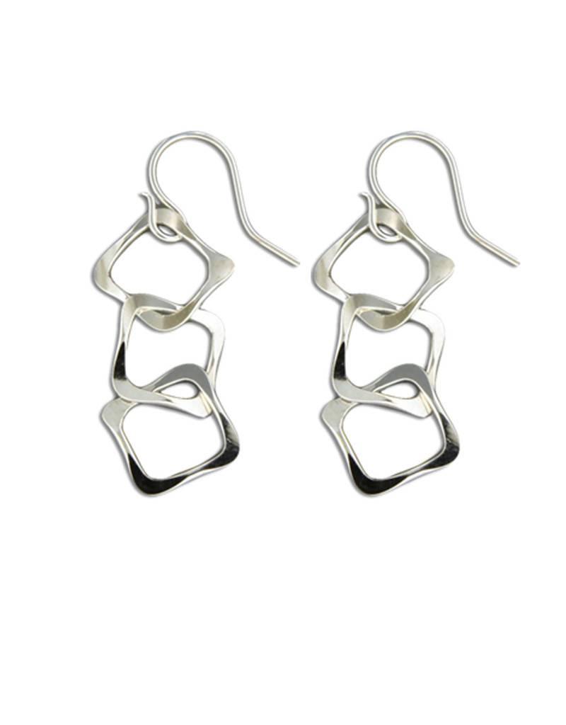 Mark Steel Earrings L15 Sterling Silver