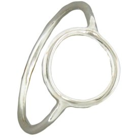 Mark Steel Circle Sterling Silver Ring 146