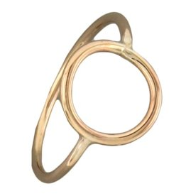 Mark Steel Circle Gold Filled Ring 140