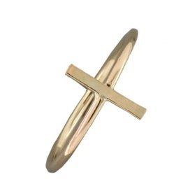Mark Steel Cross Gold Filled Ring 142