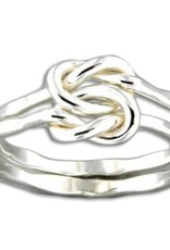 Mark Steel Love Knot Sterling Silver Ring 46