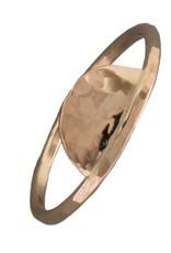 Mark Steel Hammered Half Circle Gold Filled Ring 149