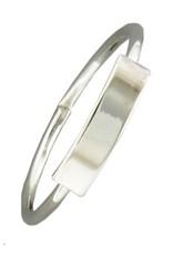 Mark Steel Bar Sterling Silver Ring 148