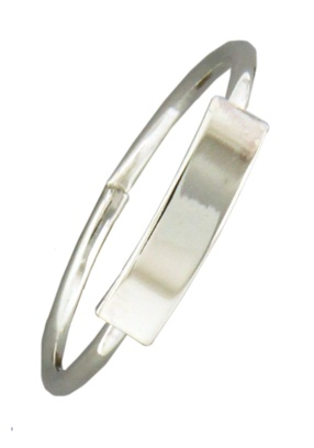 Mark Steel Bar Sterling Silver Ring 148