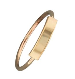 Mark Steel Bar Gold Filled Ring 148
