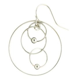 Mark Steel Double Ball Melt Sterling Silver Earring l41