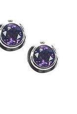 Vera + Wolf Sterling Silver Gem Stone Stud Earrings