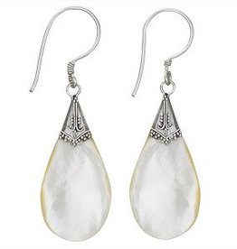 Steven + Clea Mother of Pearl Teardrop Earrings