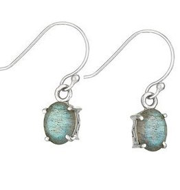 Steven + Clea Labradorite Oval Sterling Silver Earrings