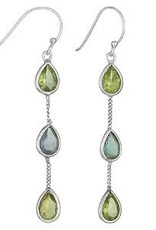 Steven + Clea Peridot Apatite Earrings