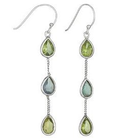 Steven + Clea Peridot Apatite Earrings