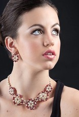 Esmeralda Lambert Handwoven Pearl Crystal Necklace LN-11