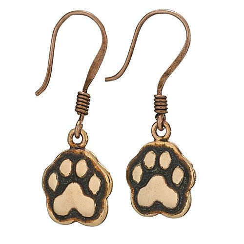 Steven + Clea Copper Paws Earrings