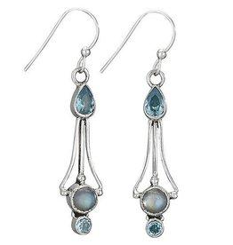 Steven + Clea Blue Topaz Labradorite Earrings