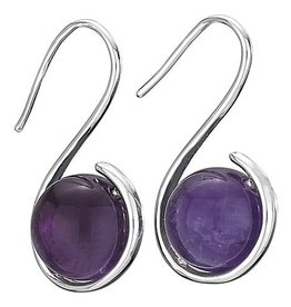 Steven + Clea Amethyst Wrap Hook Earrings