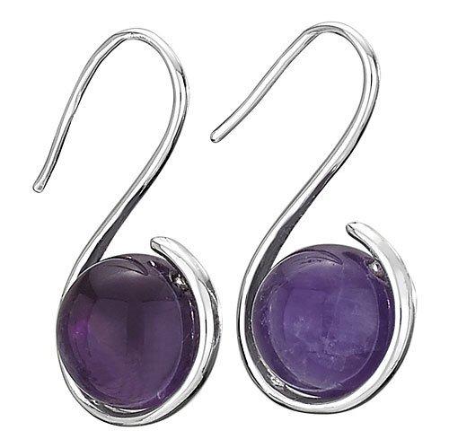 Steven + Clea Amethyst Wrap Hook Earrings