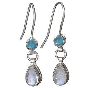 Steven + Clea Chalcedony Moonstone Earrings
