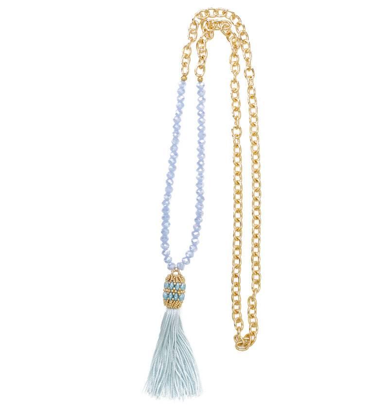 Esmeralda Lambert Tassel Chain Handwoven Necklace MN156