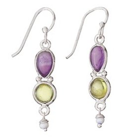 Steven + Clea Amethyst Peridot Pearl Earring