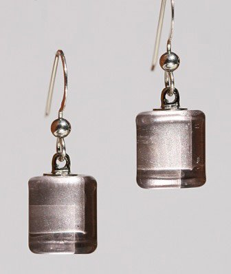 Bryce + Paola Tiny Sq. Sola WARM SILVER Earrings