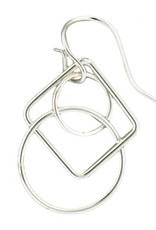 Mark Steel Geometric Rose Gold Filled Earring