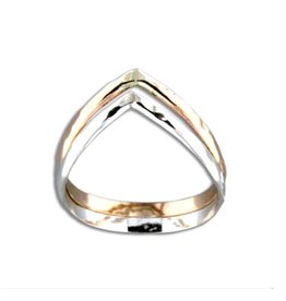 Mark Steel Double Half Round V Ring