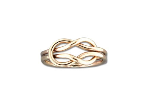 Mark Steel Eternity Ring Gold Filled